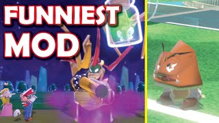 THE FUNNIEST warped Mario characters Super Mario 3D World mod EVER MADE!! [Super Mario 3D World]