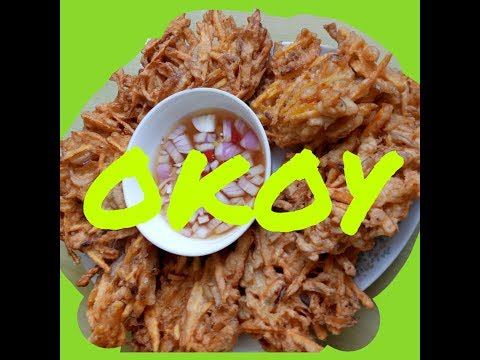 How to cook Kalabasa and kamote OKOY / Pumpkin & sweet potato fritters