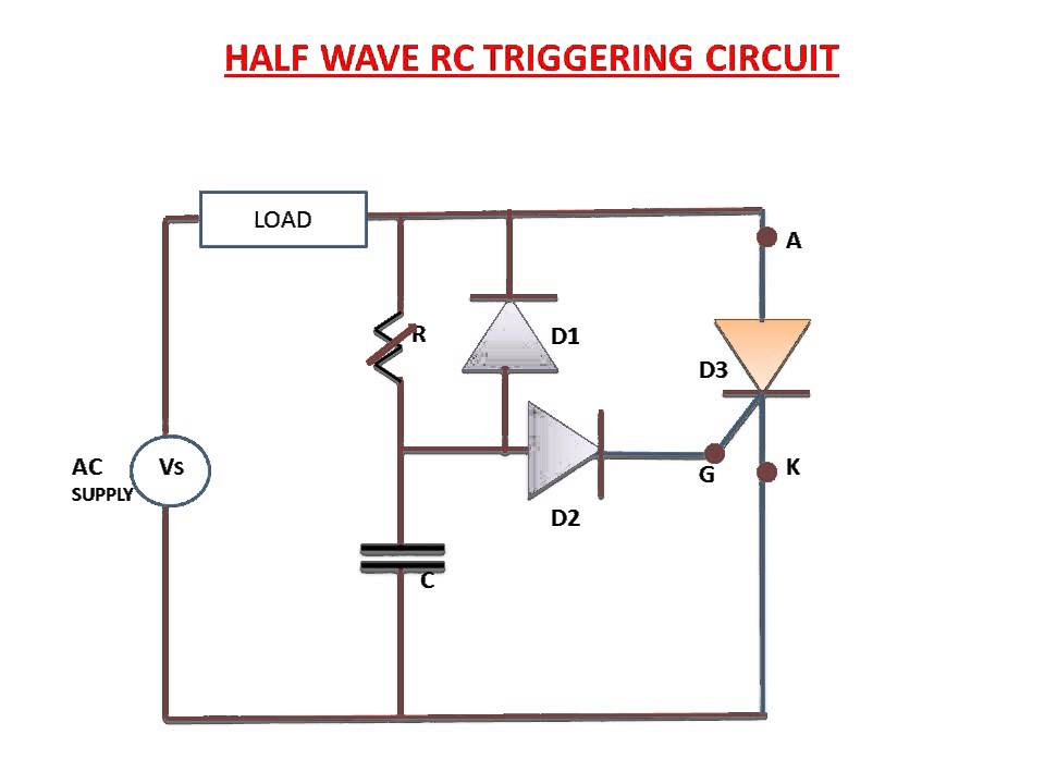Half Wave RC Triggering Circuit(Explanation)  YouTube