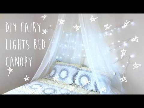Diy Bed Canopy With Fairy Lights  Tumblr & Pinterest Inspired Room Decor 2016