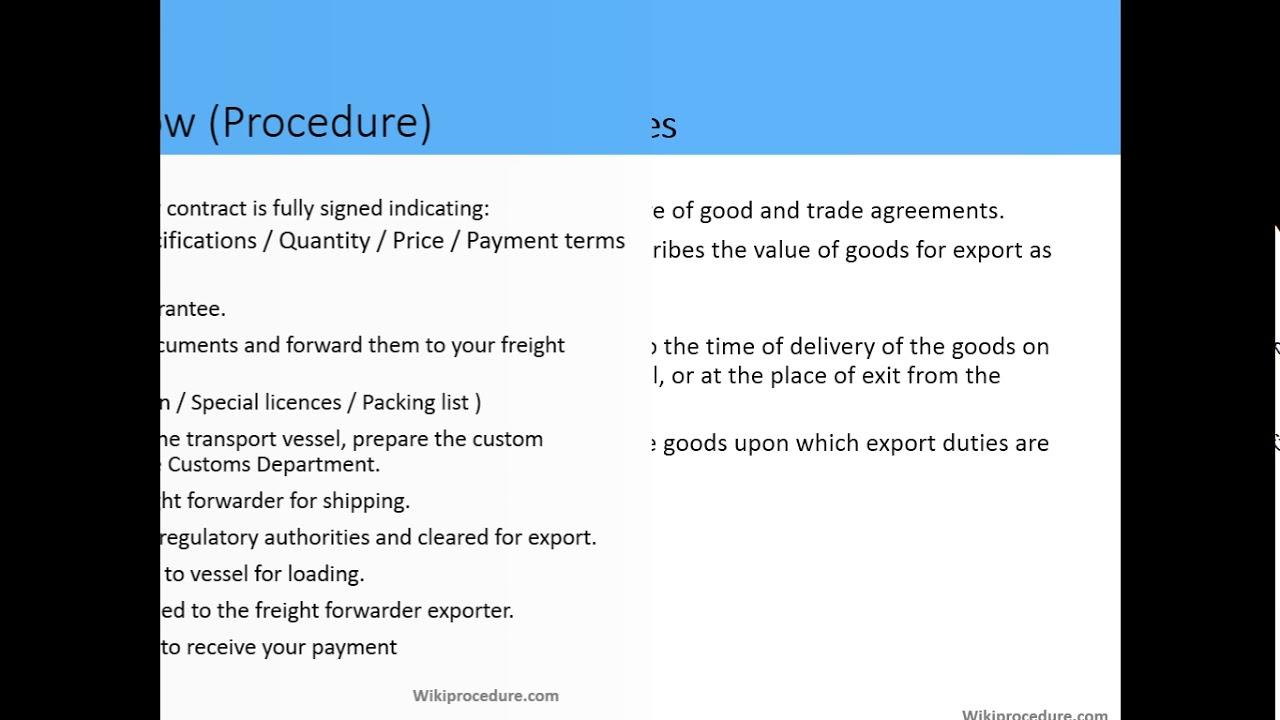 Mombasa - Exporting Goods