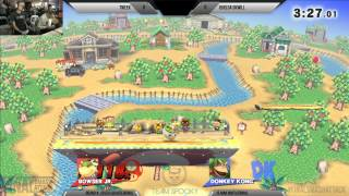 Final Smash Attack - SSB4 High Stakes Invitational 1v1 - Tweek vs iQHQ DA DKwill