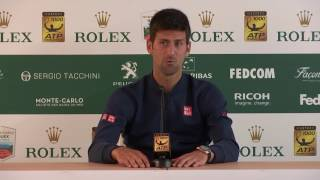 Novak Djokovic PRESS CONFERENCE Monte Carlo Masters