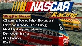 Nascar Racing gameplay (PC Game, 1994)