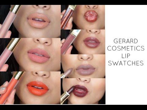 Gerard Cosmetics Lip Swatches Youtube
