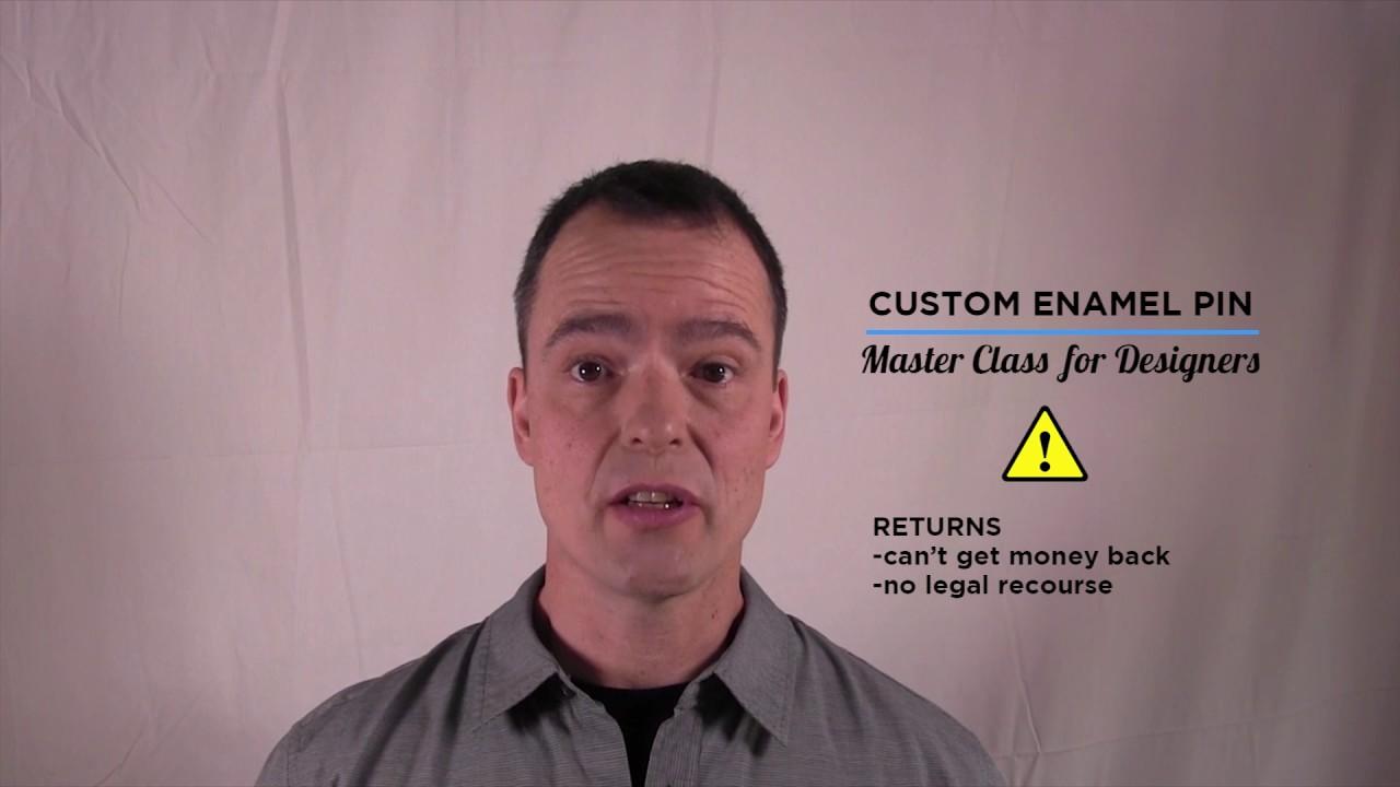 Custom Enamel Pin Master Design Class Video 4