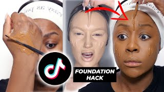 SEGUO IL TUTORIAL PIÙ ASSURDO DI TIKTOK - EXTRA FULL COVERAGE FOUNDATION HACK SU PELLE SCURA
