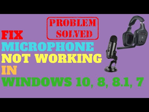 Fix Microphone Not Working in Windows 10 - YouTube