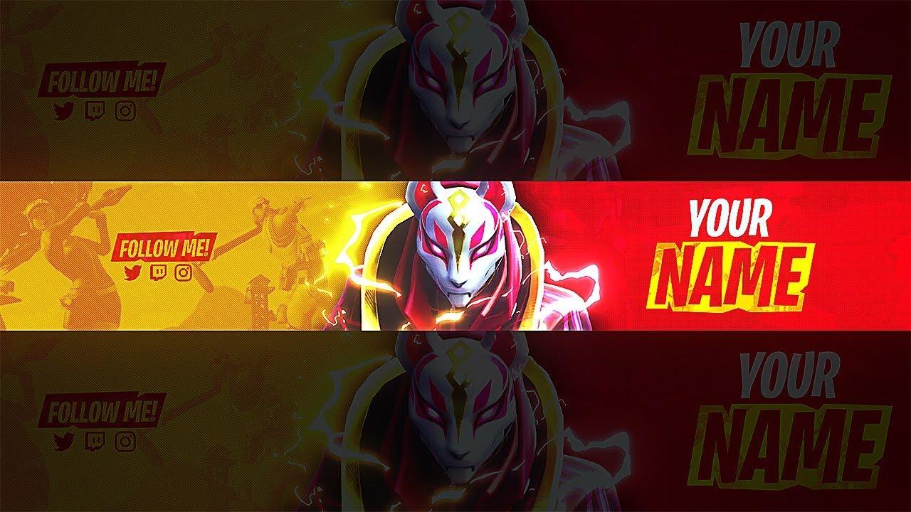 Fortnite Free Season 5 Drift Banner Template Youtube