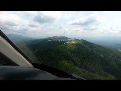 LearJet 55 landing SVCS
