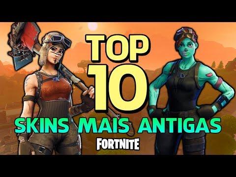 FORTNITE - TOP 10 SKINS MAIS ANTIGAS!