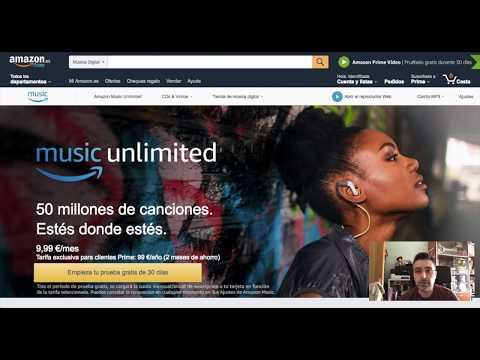Crear cuanta Amazon Music Unlimited Gratis