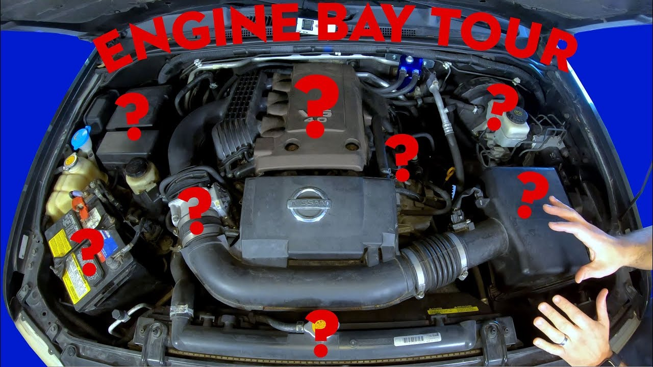 Xterra Engine Bay Walkthrough - Nissan Xterra, Frontier, Pathfinder -  YouTubeYouTube