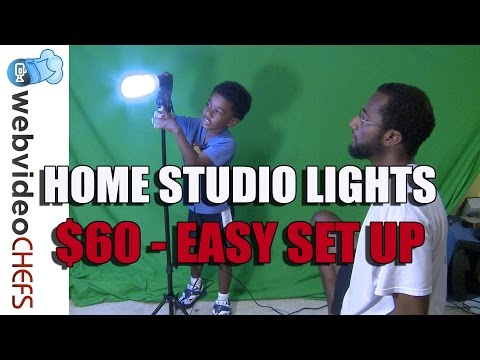 Affordable video light kit home studio – Cowboy Studio