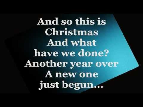 Happy Xmas War Is Over Lyrics Celine Dion Youtube