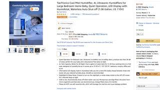 * Daily Deal * TaoTronics Cool Mist Humidifier
