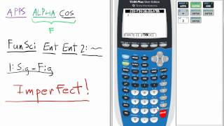 Fundamental Topics in Science Tools Sig-Fig Calculator TI 84 Calculator