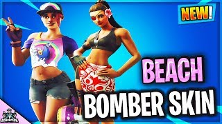 *NEW* BEACH BOMBER SKIN IN FORTNITE BATTLE ROYALE