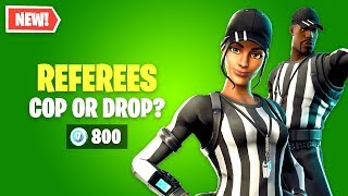 Fortnite NFL Referee Skins Worth it? Cop or Drop? (Whistle Warrior & Striped Soldier)