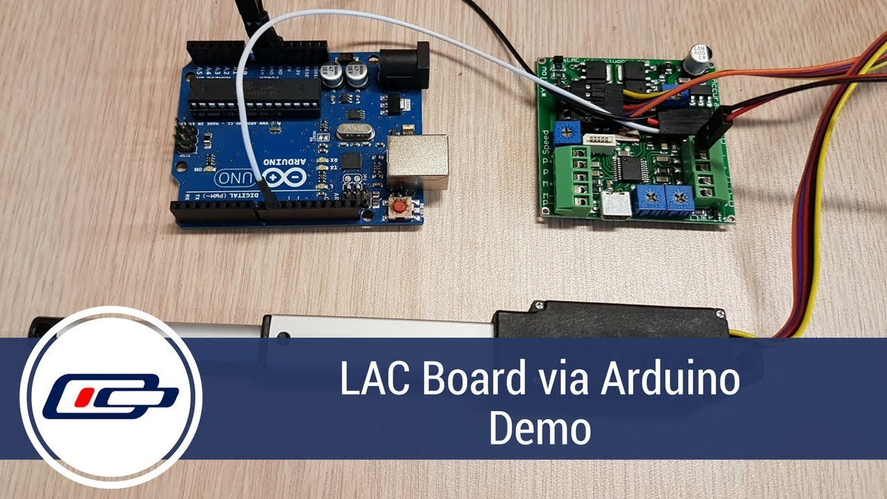 Linear Actuator And Control Board Operated Via Arduino