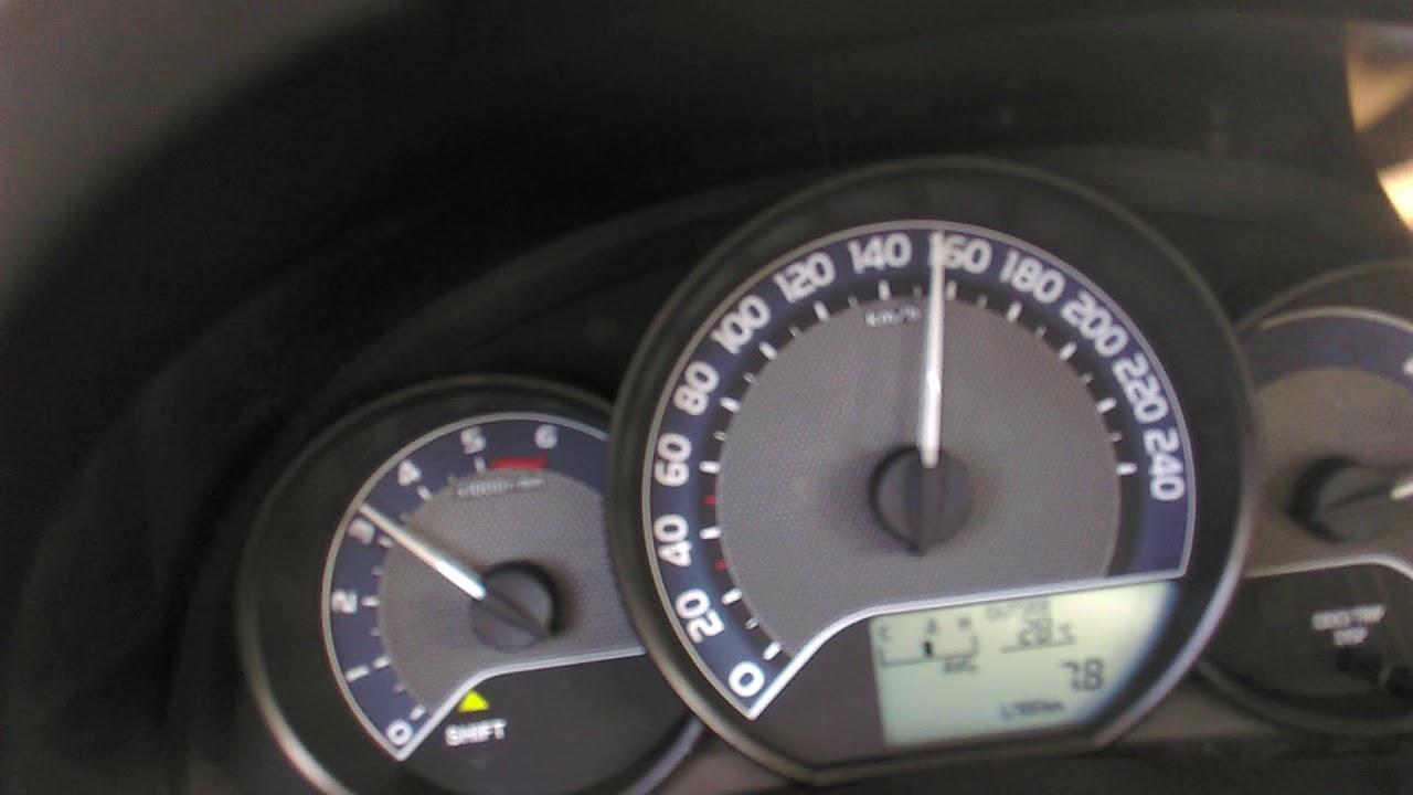 Toyota auris D4D 1.4 90hp acceleration,  top speed