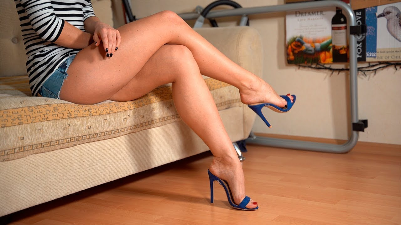 Showing my legs and feet in mules