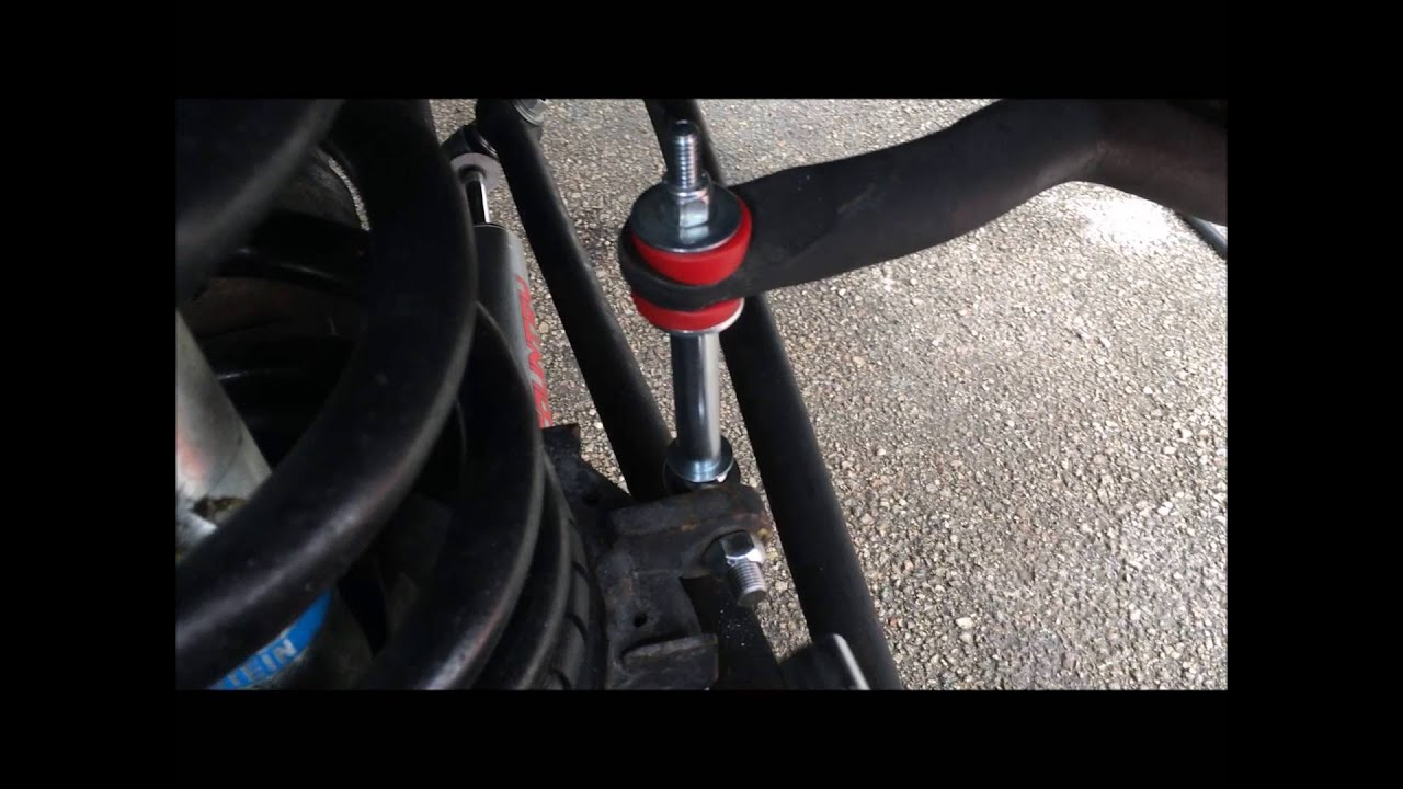 How To Change Front Sway Bar End Links On 19982002 Dodge Ram 3500 4x4  YouTube