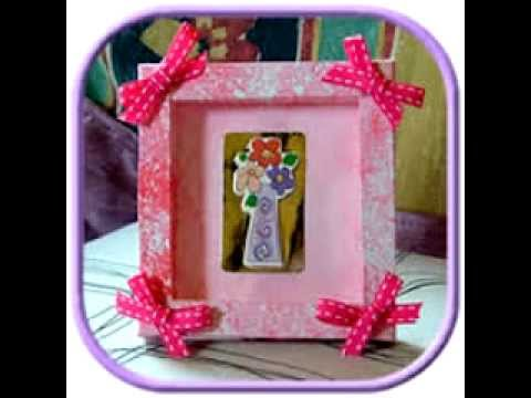 Easy photo frame craft ideas youtube for Picture frames for crafts