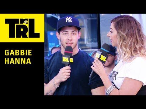Nick Jonas Answers Rapid Fire Questions w/ Gabbie Hanna | Weekdays at 3:30pm | #TRL