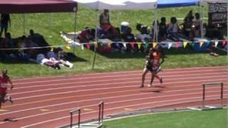 Charlyncia Stennis 400m lane 5 - 1.03.08 2010 USA Youth TF Champ.mpg