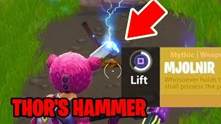 How to get THOR'S HAMMER in Fortnite: Battle Royale *NEW* Easter egg THOR arrives in FORTNITE!