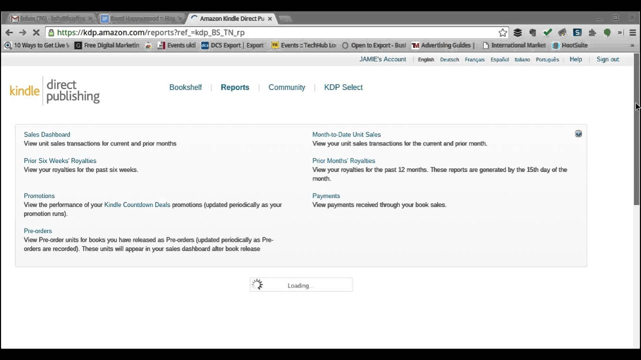 How to check your sales figures with KDP on Amazon