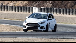 Ford Focus RS mixing it up with porsches and atom (MRLS)