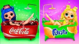 Fanta vs Coca Cola / 14 DIY LOL Surprise OMG Ideas