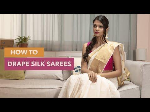 How To Drape A Silk Saree Perfectly | Saree Draping Hacks!