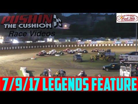 Angell Park Speedway - 7/9/17 - Legends Feature