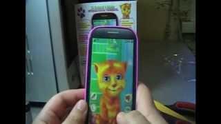 Игрушки телефон говорящий кот (Unboxing) (Talking cat Learning)