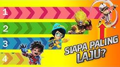 Fastest Boboiboy Galaxy Characters! (Supra, Retak'ka, Solar, Mechamato & More)