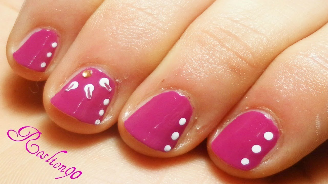Bien connu Nail Art Facile Per Unghie Corte! Easy nail art for short nails  HG98