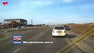Момент ДТП на трассе попал на видео