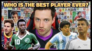 WHO IS THE BEST PLAYER EVER?! MESSI VS RONALDO VS PELÉ VS MARADONA