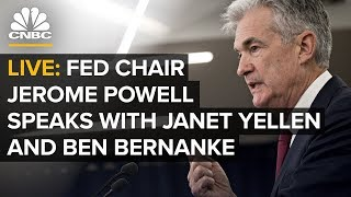Fed Chair Jerome Powell speaks with Janet Yellen and Ben Bernanke — 1/4/2019