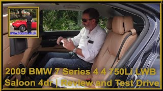 Review and Virtual Video Test Drive In Our 2009 BMW 7 Series 4 4 750Li LWB Saloon 4dr RA58GAX