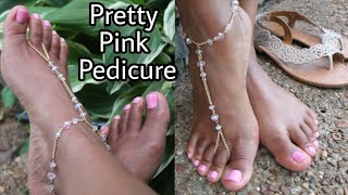 DIY PINK PEDICURE! Gena Pedi Feet To Go Kit.