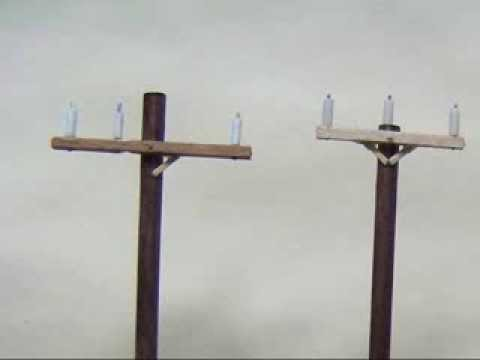 Handcrafted Model Railroad (HO Scale) Utility Poles - YouTube