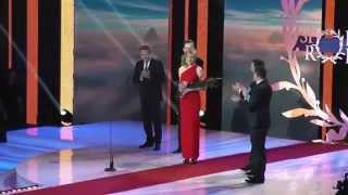 Športovec roka 2014: Biatlonistka Anastasia Kuzminová si preberá cenu za 1. miesto