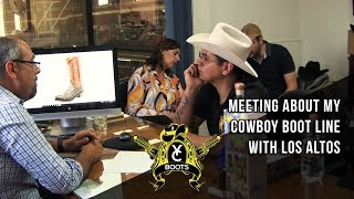 Meeting About My Cowboy Boot Line With Los Altos