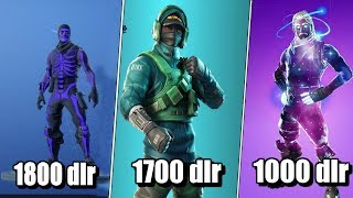 The 9 Most Exclusive Skins and COSTS of Fortnite That!!! Have Ever