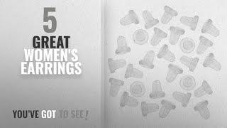 10 Best Backs Rubber Earrings [2018]: Flyshop 100 Pcs Clear White Rubber Earrings Back Stoppers
