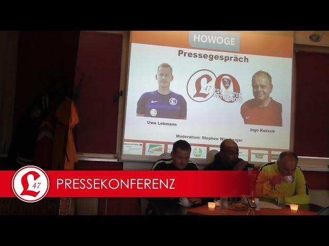 Oberligateam: Pressekonferenz nach dem Spiel Lichtenberg 47 – Optik Rathenow